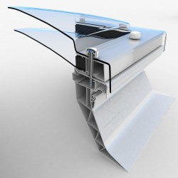 Mardome Trade Double Glazing Flat Roof Window with Standard Kerb non Vented - 900 X 750mm