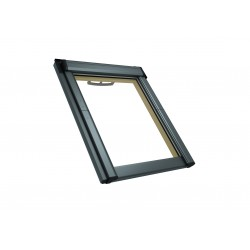 RotoQ Centre Pivot Roof Window Q-4 Timber Double Standard Glazing AL with fan In White 55/78