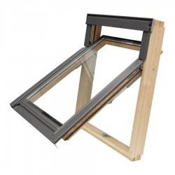 RoofLITE Esca MOEVX 510 Escape Roof Window with White Painted Timber Top Opening M8A