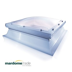 Mardome Trade Double Glazing Flat Roof Window with Tall Kerb & Auto Humidity Vent - 1350 X 1350mm