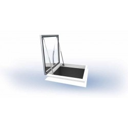 Mardome Trade Double Glazing Flat Roof Window with Tall Kerb Vented Access Hatch - 1350 X 1050mm