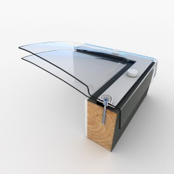 Mardome Ultra Double Glazing Flat Roof Window to suit Builders Upstand Vented - 1350 X 1050mm