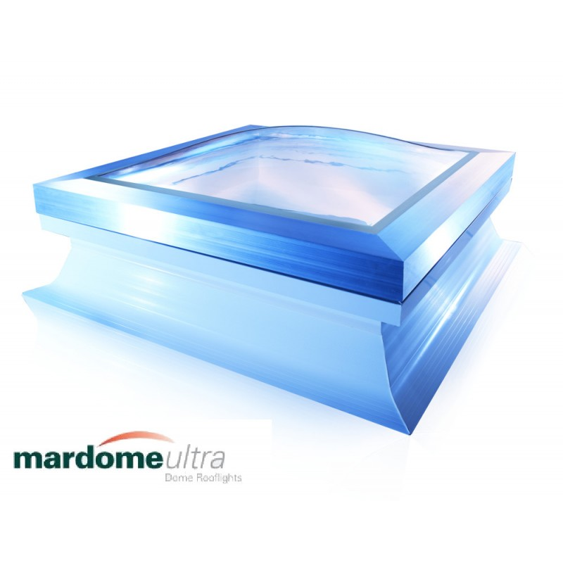 Mardome Ultra Double Glazing Flat Roof Window with Tall Kerb non Vented - 1350 X 1050mm