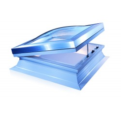 Mardome Ultra Double Glazing Flat Roof Window with Standard Kerb Powered Opening non Vented - 600 X 600mm
