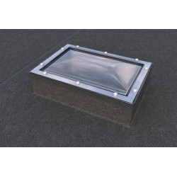 Mardome Trade Double Glazing Flat Roof Window to suit Builders Upstand non Vented - 900 X 750mm