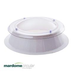 Mardome Circular Double Glazing Flat Roof Window with GRP Kerb - 1200 X 1200mm