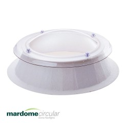 Mardome Circular Triple Glazing Flat Roof Window with GRP Kerb - 1050 X 1050mm