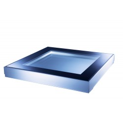 Mardome Glass Flat Roof Window Double Glazed to suit Builders Upstand - 750 X 750mm