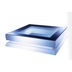 Mardome Glass Flat Roof Window Double Glazed to suit Builders Upstand with Vent - 750 X 750mm