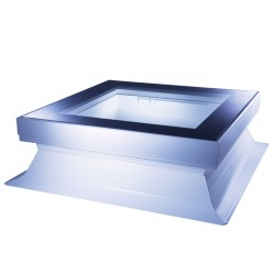 Mardome Glass Flat Roof Window Double Glazed with Standard Kerb and Auto Humidity Vent - 600 X 600mm
