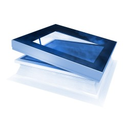 Mardome Glass Flat Roof Window Double Glazed with Standard Kerb Manual Opening - 600 X 600mm