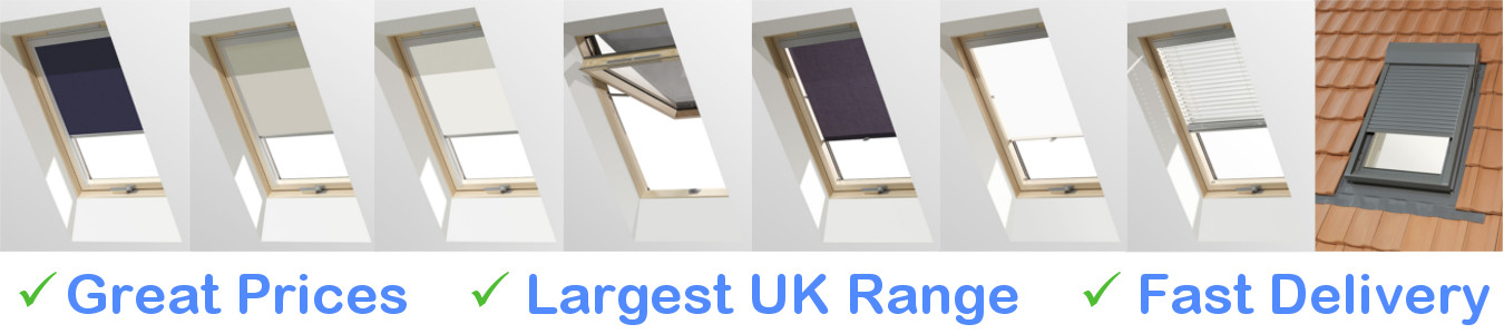 Pitched Roof Window Blinds
